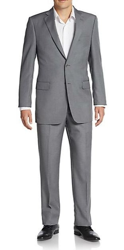 Saks Fifth Avenue - Regular-Fit Hairline Striped Wool Suit