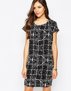 Y.A.S  - Short Sleeve Abstract Print Shift Dress