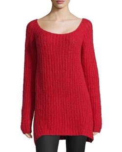 Donna Karan   - Long-Sleeve Wide-Neck Sweater
