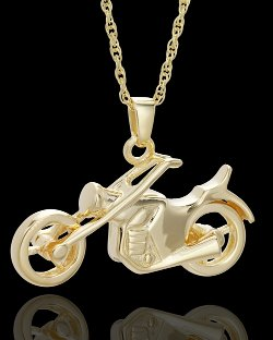 Cremains Jewelry  - Gold Vermeil Cruisin Necklace