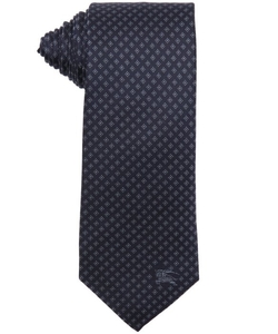 Burberry London  - Navy Diamond Print Silk Rohan Tie