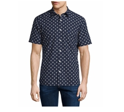 Burberry Brit  - Dot-Print Over Gingham Short-Sleeve Shirt