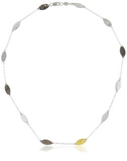 Gurhan - Willow Silver Necklace With High Karat Gold Accents