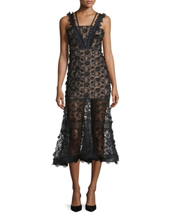 Alexis  - Lorelle Sleeveless Embroidered Lace Midi Dress