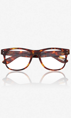 Express - Tortoise Shell Clear Lens Glasses