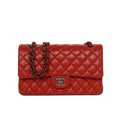 Chanel - Red Caviar Medium Classic Double Flap Bag