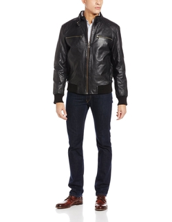 Emanuel By Emanuel Ungaro - Leather Glove Touch Bomber Jacket