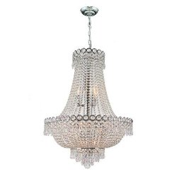 Worldwide Lighting - Empire Chrome Crystal Chandelier