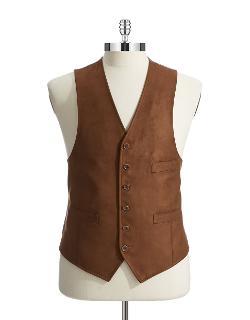 Black Brown 1826  - Button-down Vest