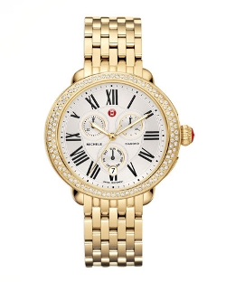 Michele - Serein Diamond Link Bracelet Watch
