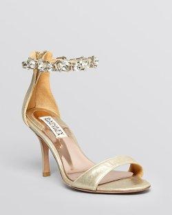 Badgley Mischka  - Ankle Strap Evening Sandals