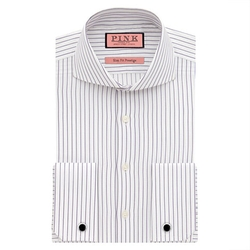 Thomas Pink - Browes Stripe Slim Fit Double Cuff Shirt