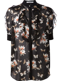 Givenchy - Sheer Floral Print Blouse