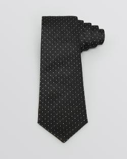 Yves Saint Laurent - Gold-Tone Pin Dot Formal Tie