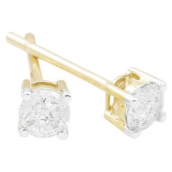 Target - 1/3 CT. T.W. Diamond Solitaire Stud Earrings in 10kt - Yellow Gold