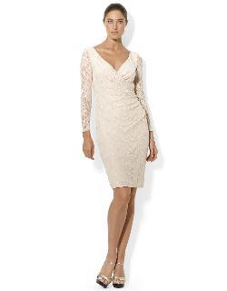 Ralph Lauren  - Petite Stretch Floral Lace Dress