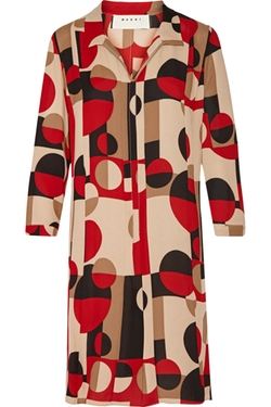 Marni  - Printed Silk Dress