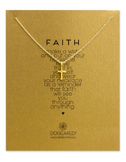 Dogeared  - Dipped Cross Pendant Necklace