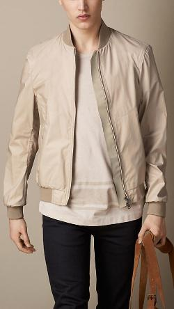 BURBERRY - SEAM SEALED TECHNICAL BOMBER JACKET