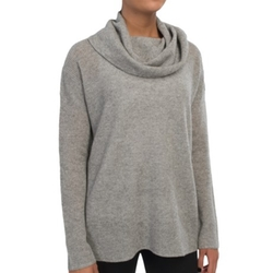 In Cashmere - Cowl Neck Cashmere Tunic Shirt