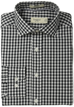 Haggar  - Gingham Fancy Poplin Fitted Shirt