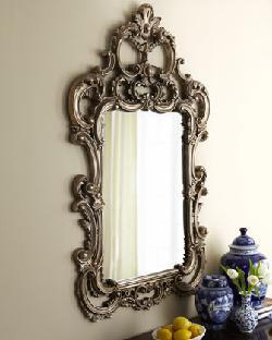 Baroque - Silvery Baroque-Style Mirror