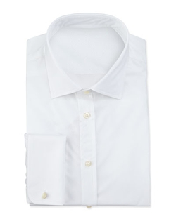 Giorgio Armani  - Textured French-Cuff Dress Shirt