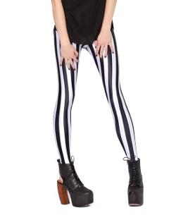 Chicnova - Vertical Stripe Print Bodycon Leggings