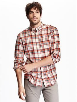 Old-Navy - Slim-Fit Plaid Flannel Shirt