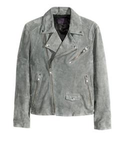 H&M - Suede Biker Jacket