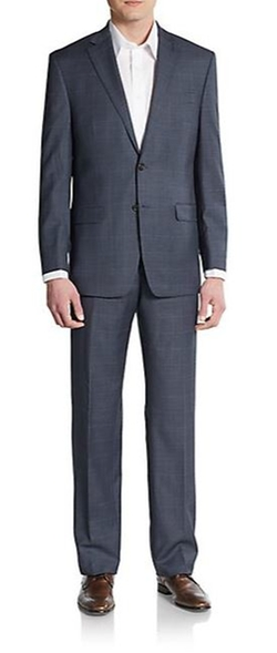 Lauren Ralph Lauren  - Ultraflex Classic-Fit Windowpane Check Wool Suit