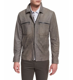 Vince  - Nubuck Leather Utility Jacket