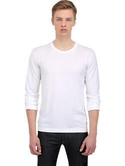 Dolce & Gabbana  - Cotton Jersey Long Sleeve T-Shirt