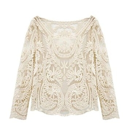 Thumblike - Floral Lace Crochet Blouse