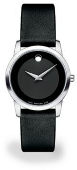 Movado - Museum Classic Stainless Steel & Leather Strap Watch