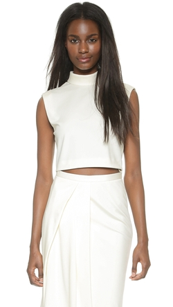 Tibi  - Mock Neck Crop Top