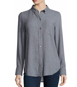 Theory - Simara Knit Button-Front Blouse