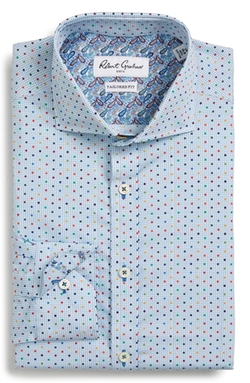 Robert Graham  - Tailored Fit Dot Dress Shirt