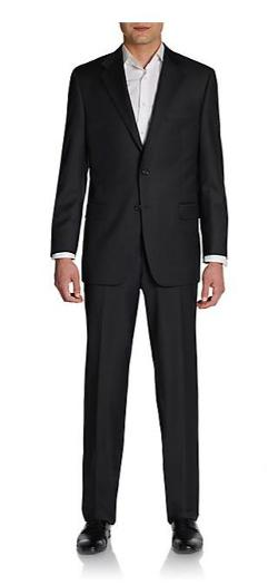 Hickey Freeman  - Classic-Fit Worsted Wool Two-Button Suit