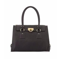 Salvatore Ferragamo - Lotty Medium Leather Satchel Bag