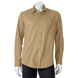 Dockers - Solid Button Down Shirt