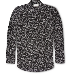 Saint Laurent - Paisley Print Long Sleeve Shirt