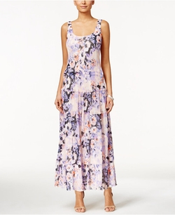 Nine West - Tiered Floral-Print Maxi Dress