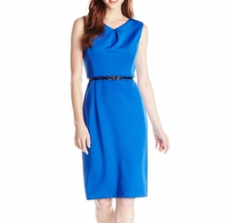 Ellen Tracy - Petite V Neck Sheath Dress