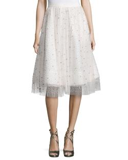 Alice + Olivia - Catrina Embellished A-Line Skirt