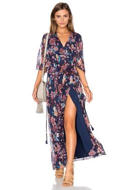 Haute Hippie - Flutter Sleeve Maxi Dress