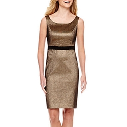 Worthington - Sleeveless Metallic Sheath Dress