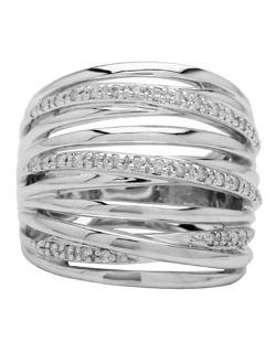 LORD & TAYLOR  - Sterling Silver Diamond Accented Ring