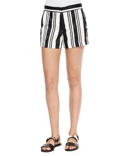 Theory    - Blaynee Striped Shorts