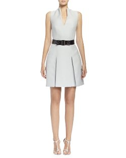 Alexander McQueen   - Box-Pleated Fit & Flare Dress